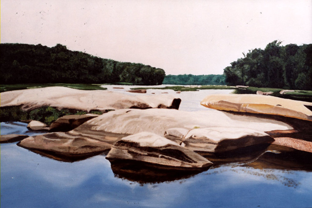 "James River - Oil on Wood Panel | 24""x36"""