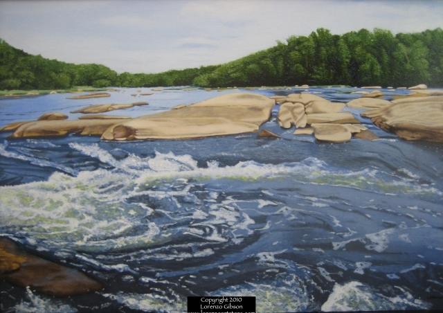 "James River - Oil on Panel | 24"" x 36"""