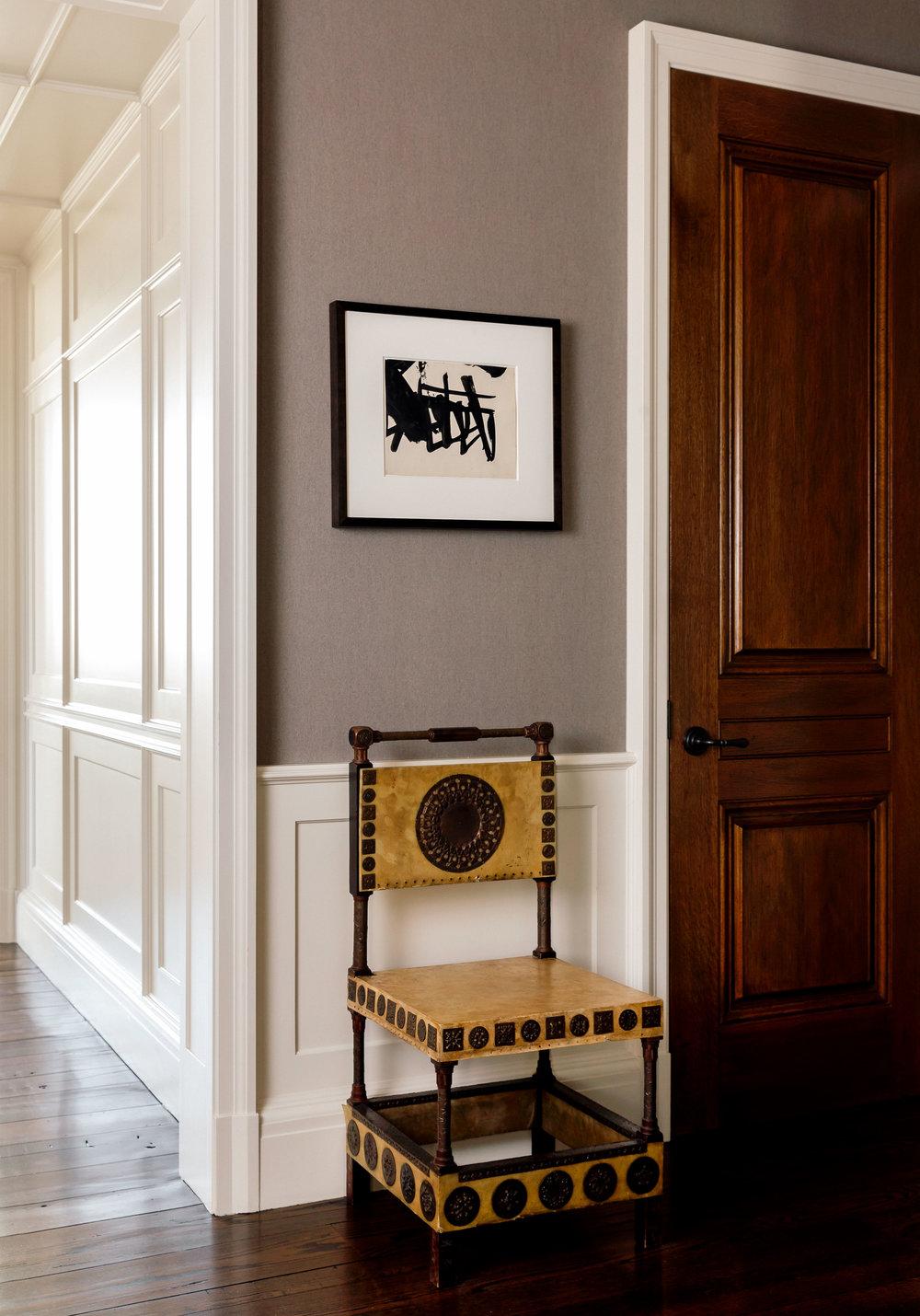 Franz Kline, Gouache / Bugatti Chair