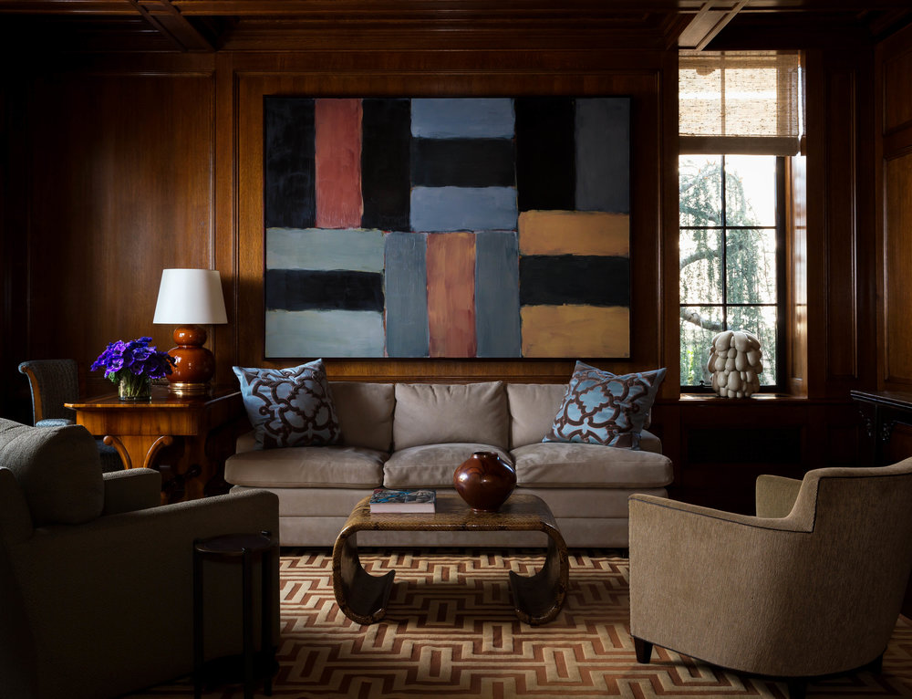 Painting by Sean Scully, Bronze Sculpture by Yoshiko Takejiro, Ceramic Work by Marten Medbo