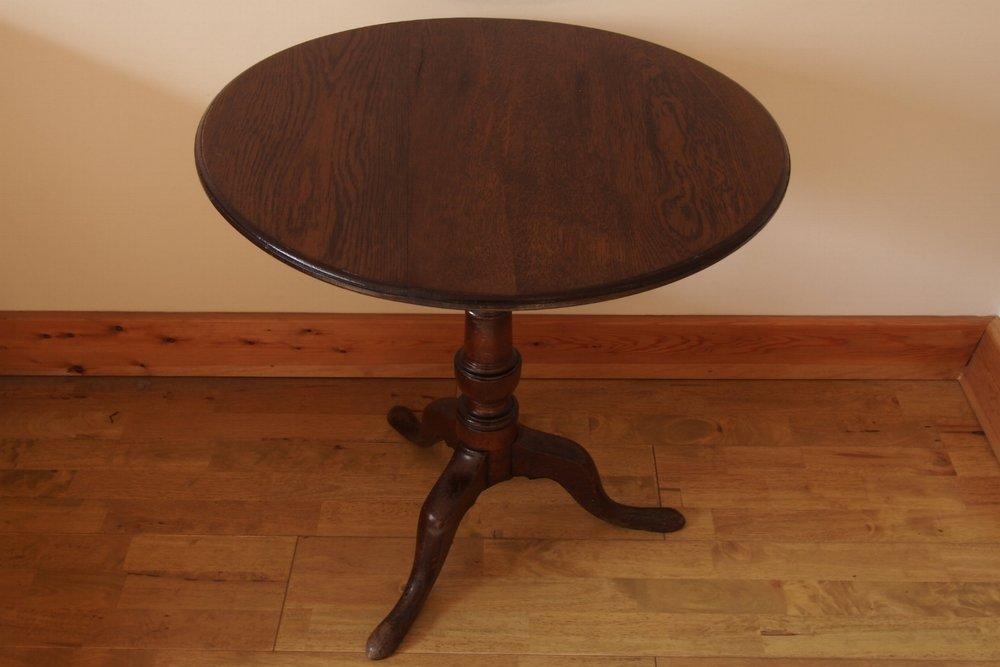 Oak Pedestal Pub Table