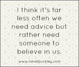 not advice, belief