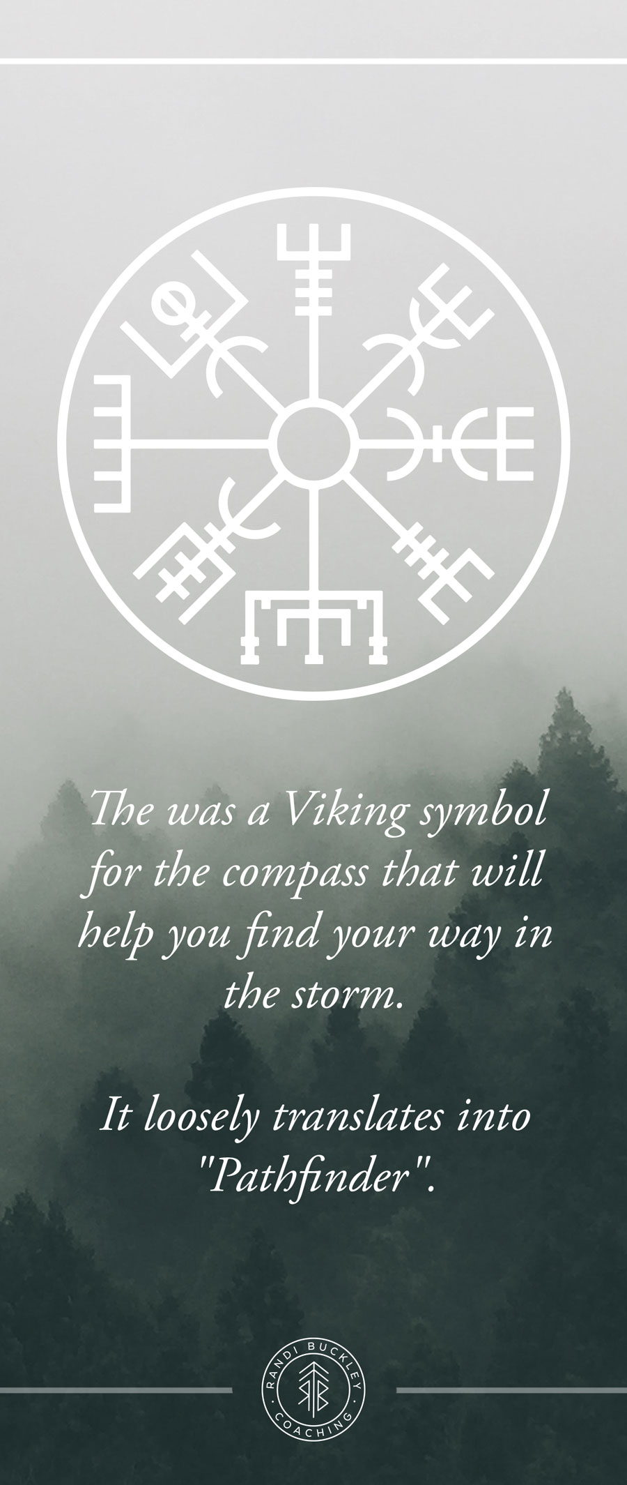 Viking Symbol for Pathfinder Viking Woman Workshop