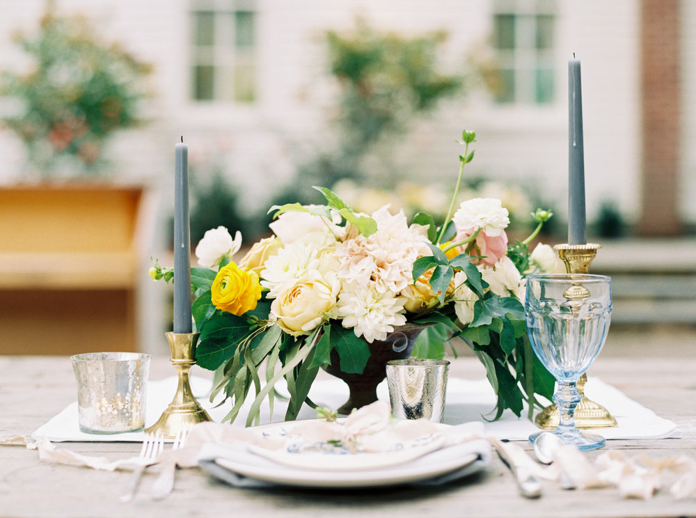 My centerpiece and tabletop styling work at The School of Styling - Photo: Ally and Bobby