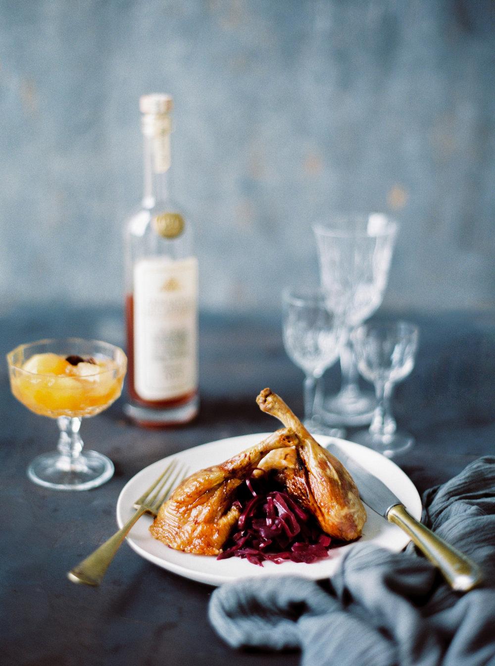 Ente mit Rotkraut & Apfelkompott