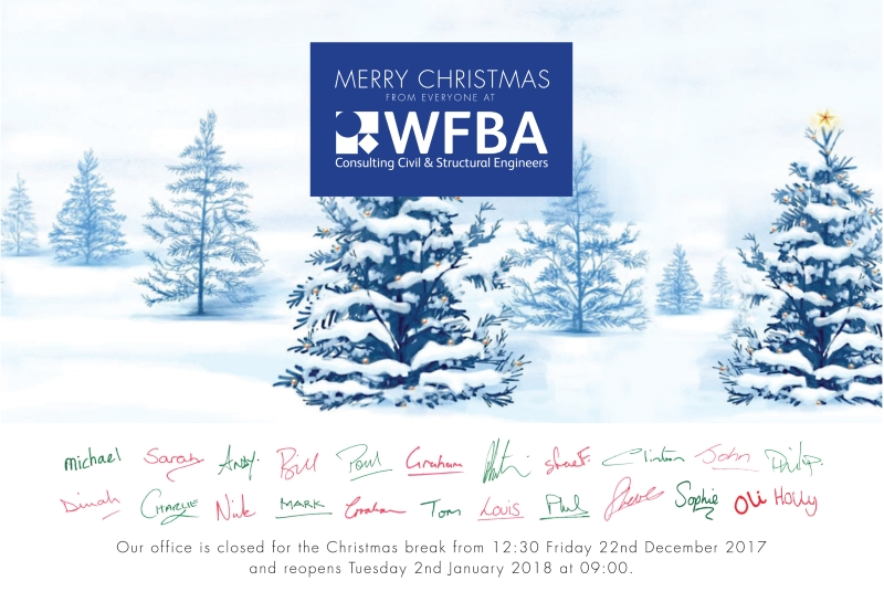 Our office is closed for the Christmas break from 12:30 Friday 22nd December 2017 and reopens Tuesday 2nd January 2018 at 09:00.