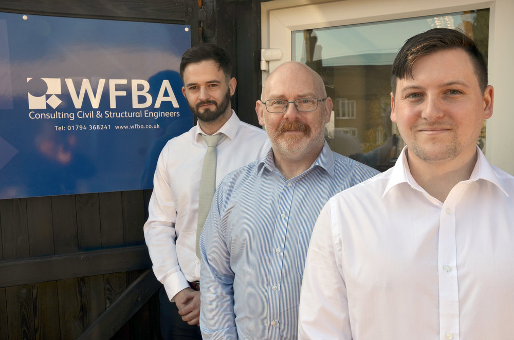 (from left) WFBA's new line up Philip Lee, Matt Hatch and Lewis Safe