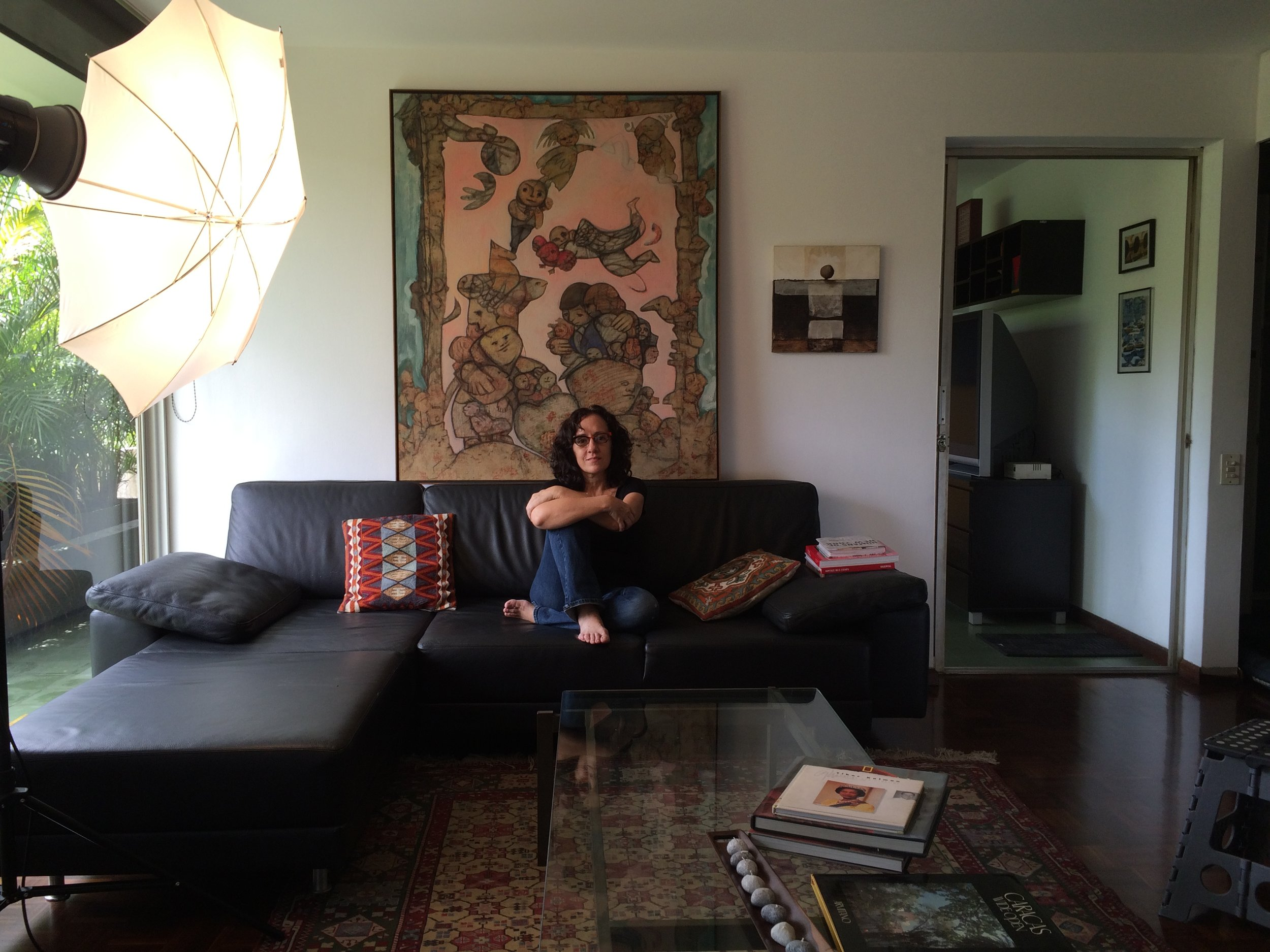 A Current Portrait Of Fernanda Sosa In Her Caracas Living Room Most Cherished Friendship She Is Sitting Front Painting I Had Almost