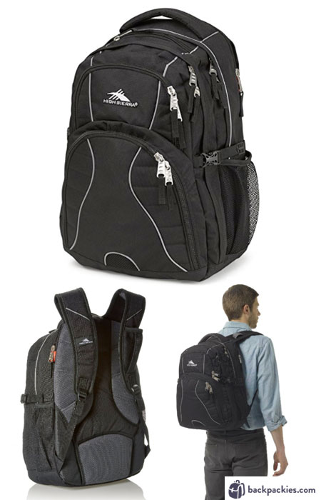 High Sierra Swerve backpack - We list the best affordable backpacks for school. Find more cheap large backpacks for college or high school at backpackies.com