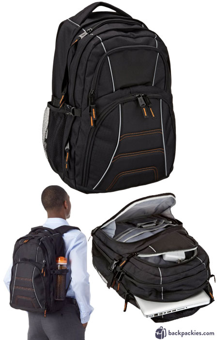 Amazon Basics backpack - We list the best affordable backpacks for school. Find more cheap large backpacks for college or high school at backpackies.com