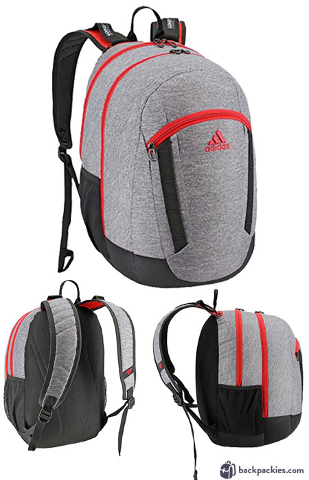 Adidas Excel XL backpack - We list the best affordable backpacks for school. Find more cheap sports backpacks for college or high school at backpackies.com