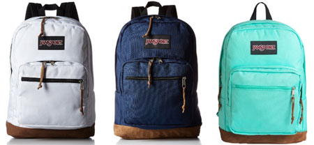 Jansport Right Pack backpack for school - See the full list of the best cheap backpacks for college and high school at backpackies.com