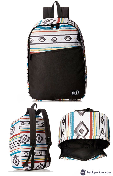 NEFF Daily backpack review - See the full list of the best cheap backpacks for college and high school at backpackies.com