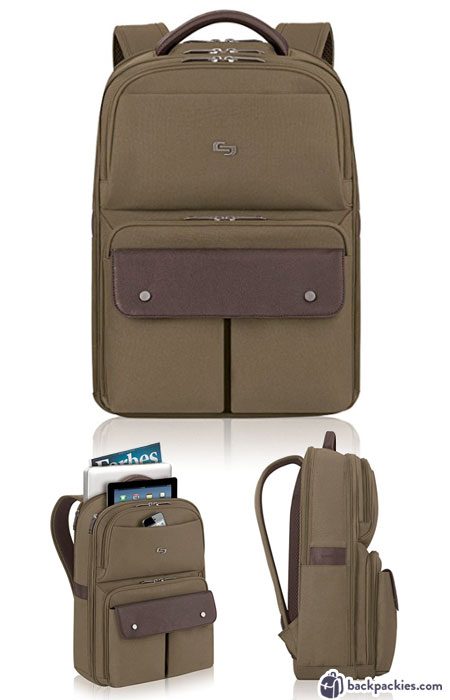 Solo Executive laptop backpack for men - We list the best men's backpacks for work. Come see which other business backpacks made the list!