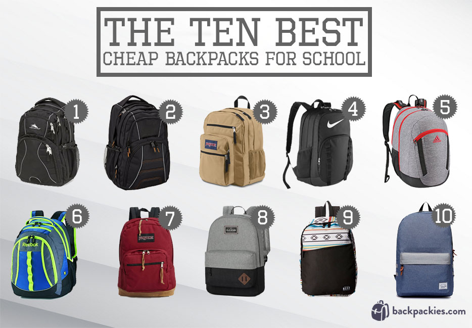 where to buy cheap backpacks for school - see the full list at Backpackies.com