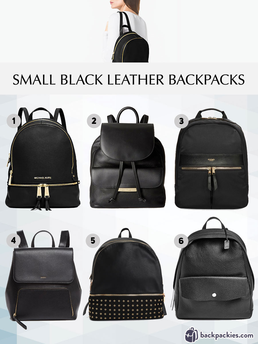 9a8ecd3a4 6 Small Black Leather Backpacks We Love - 2018 Must Haves | Backpackies