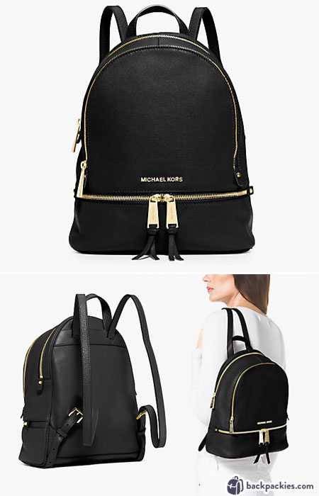 Michael Kors Small Rhea Backpack - Designer backpacks for women - Learn more at backpackies.com