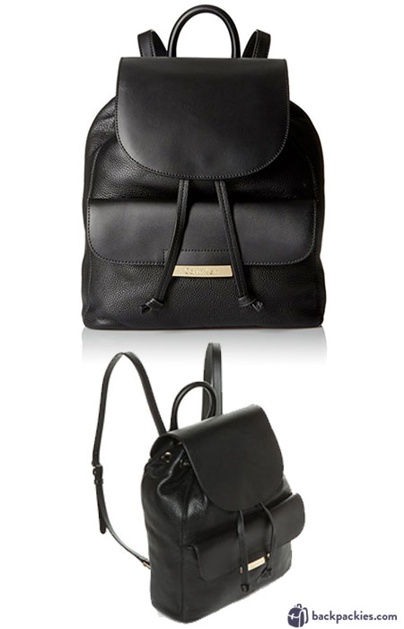 Calvin Klein Rowan Pebble backpack - Cute leather backpacks for women - Learn more at backpackies.com