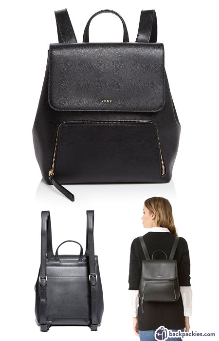 DKNY Bryant Mini Backpack - Cute black leather backpack for women - Find out more at backpackies.com