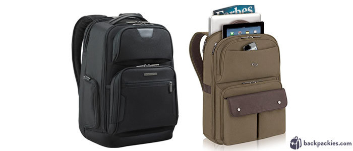 Briggs & Riley Atwork Business Backpack (Left) - Solo Executive Laptop Backpack (Right)