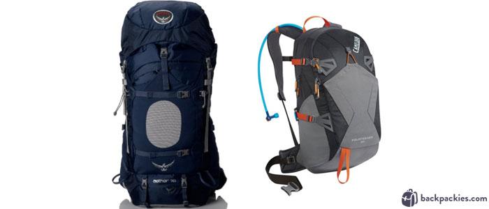 Osprey Men s Aether 70 Backpack (left) and CamelBak 2016 Fourteener 20  Hydration Pack ( e9a9041eb1679