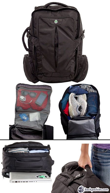 Tortuga travel backpack - Tom Bihn Aeronaut alternative- Learn more at backpackies.com