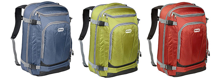 The eBags Mother Lode Weekender travel backpack is available in mutiple color options.