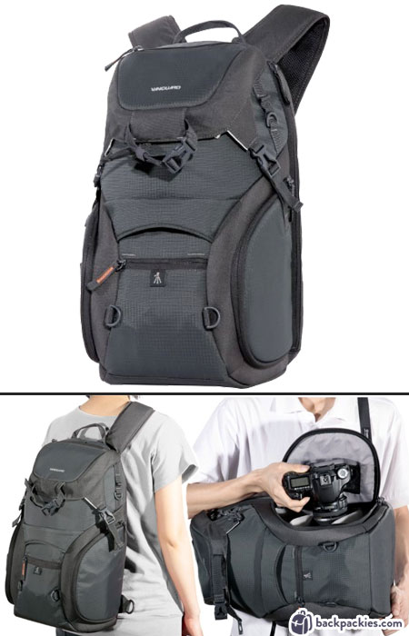 Vanguard Adaptor 46 Side Access Camera backpack - Peak Design Alternative - backpackies.com