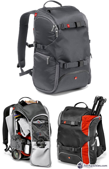 Manfrotto Travel Camera backpack - best Peak Design Everyday Backpack alternative - backpackies.com