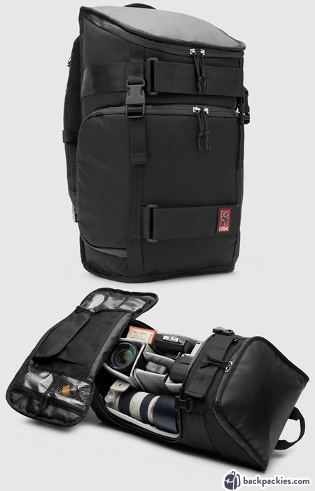Chrome Niko camera backpack - Peak Design alternative to Everyday Backpack - backpackies.com