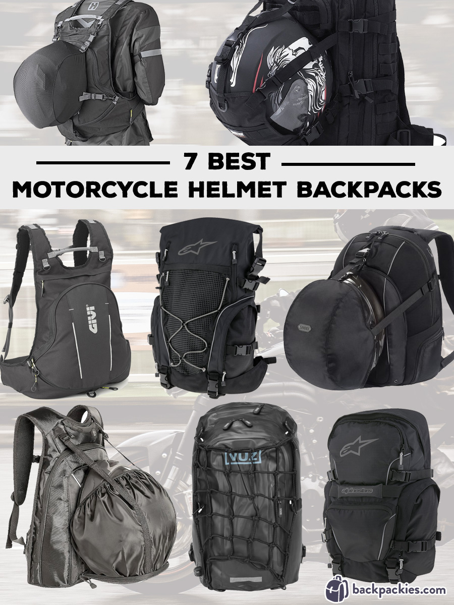 7 Best Motorcycle Helmet Backpacks Available Right Now   Backpackies 813bf9945e