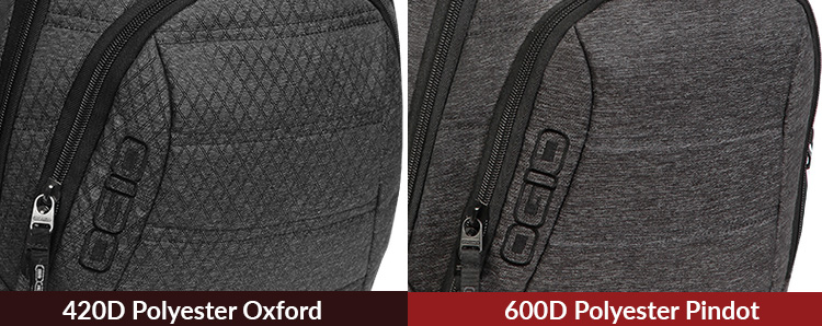 Ogio Gambit (left) vs Ogio Renegade RSS (right) difference in material.