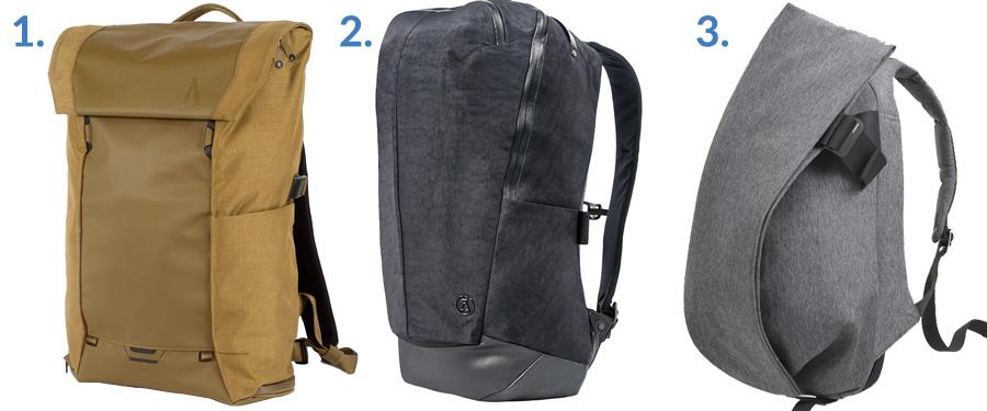 1. Boundary Supply Errant Pack ( Boundary Supply )  2. Alchemy Equipment Daypack ( Gallantry )  3. Côte&Ciel Isar ( Amazon )