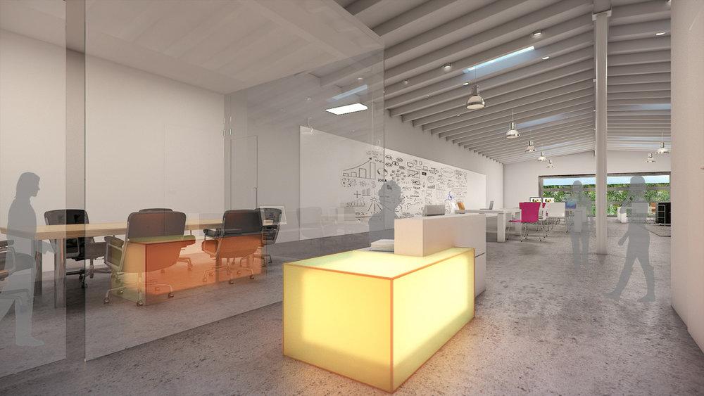 Coolidge Avenue Interior Office Rendering