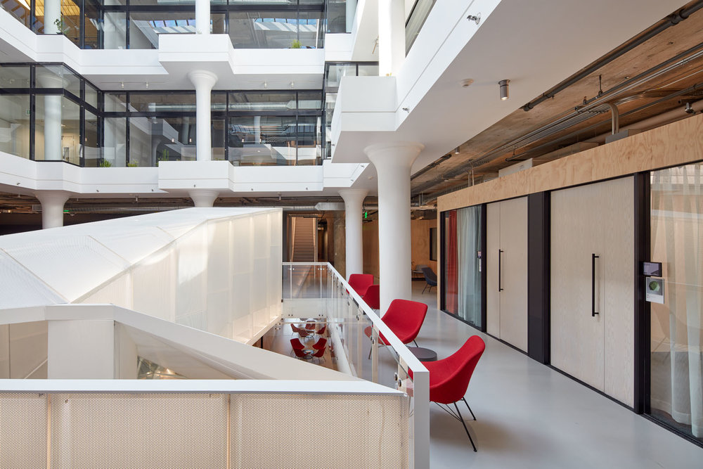 Pinterest Headquarters Atrium Workstations