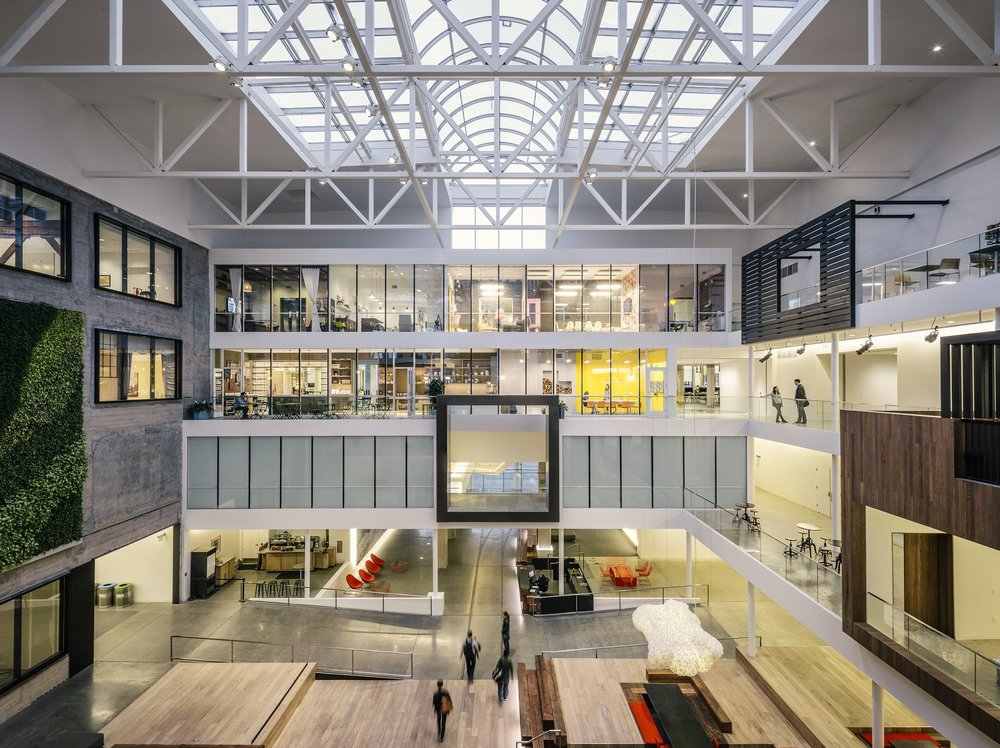 Airbnb Headquarters Atrium