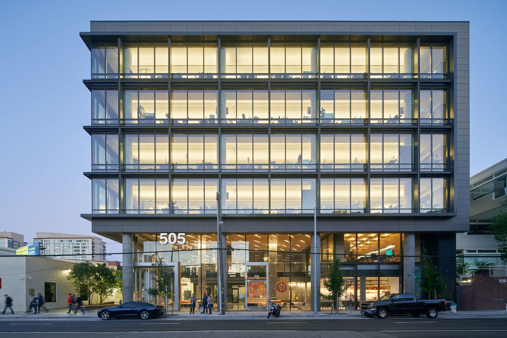 Pinterest Headquarters 2 Exterior Image, Courtesy Alexandria Real Estate Equities, Inc.