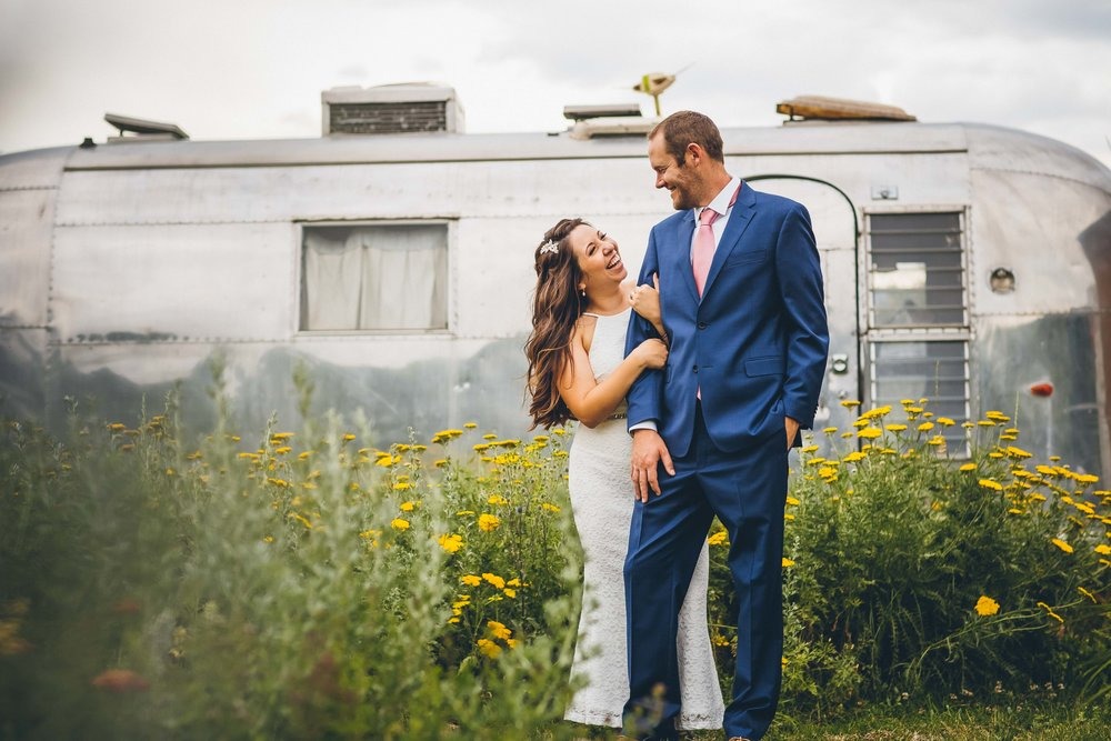 Becca + Bobby's Lyons Farmette Wedding  - Lyons, CO // Airstream // Colorful Gardens Blog Post Link