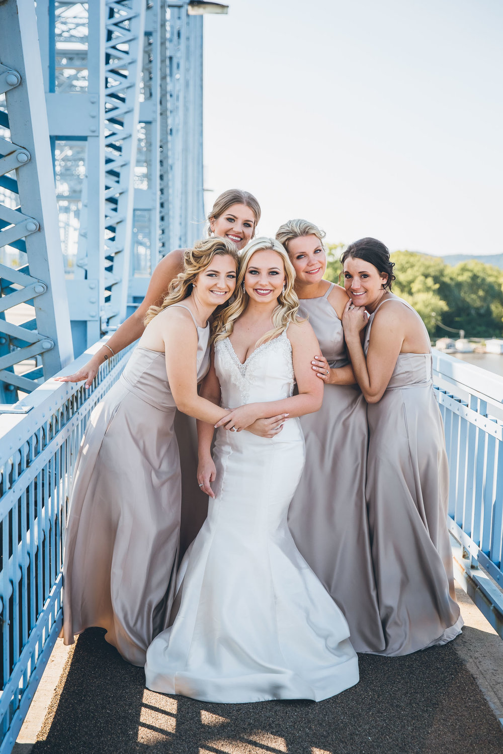 Cass street bridge wedding photography