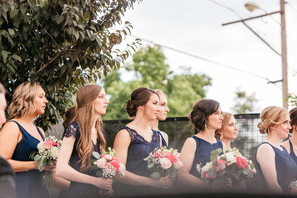 space gallery bridal party