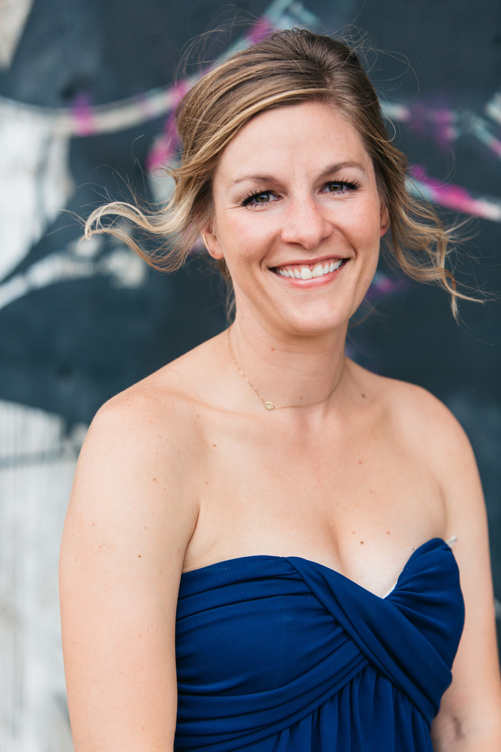 strapless bridesmaid blue outdoor denver
