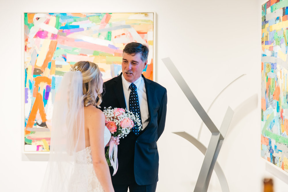Art gallery wedding ceremony santa fe denver