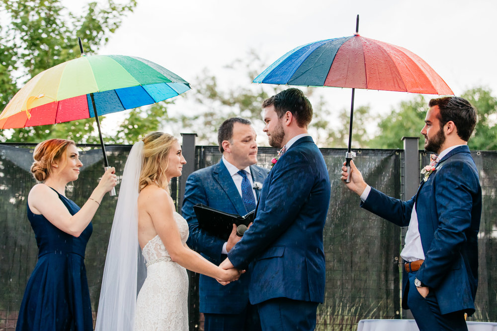 rainbow umbrellas prisma events