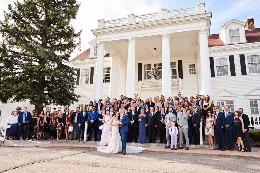 Manor House in Littleton - Colorado Mansion | First Look Gallery | Whole Wedding Party Photo