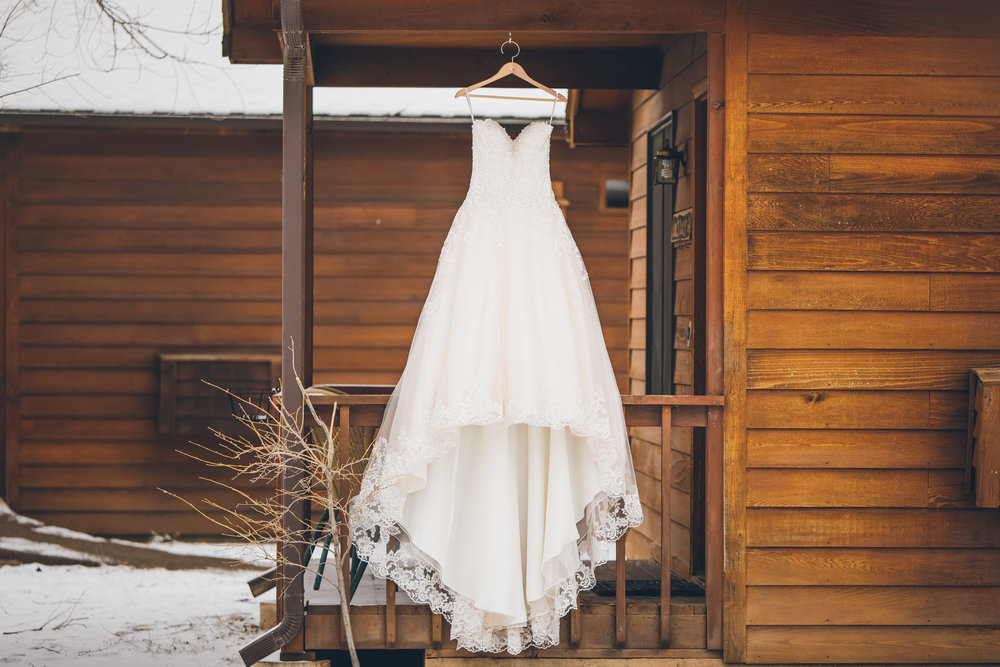 cabin wedding dress