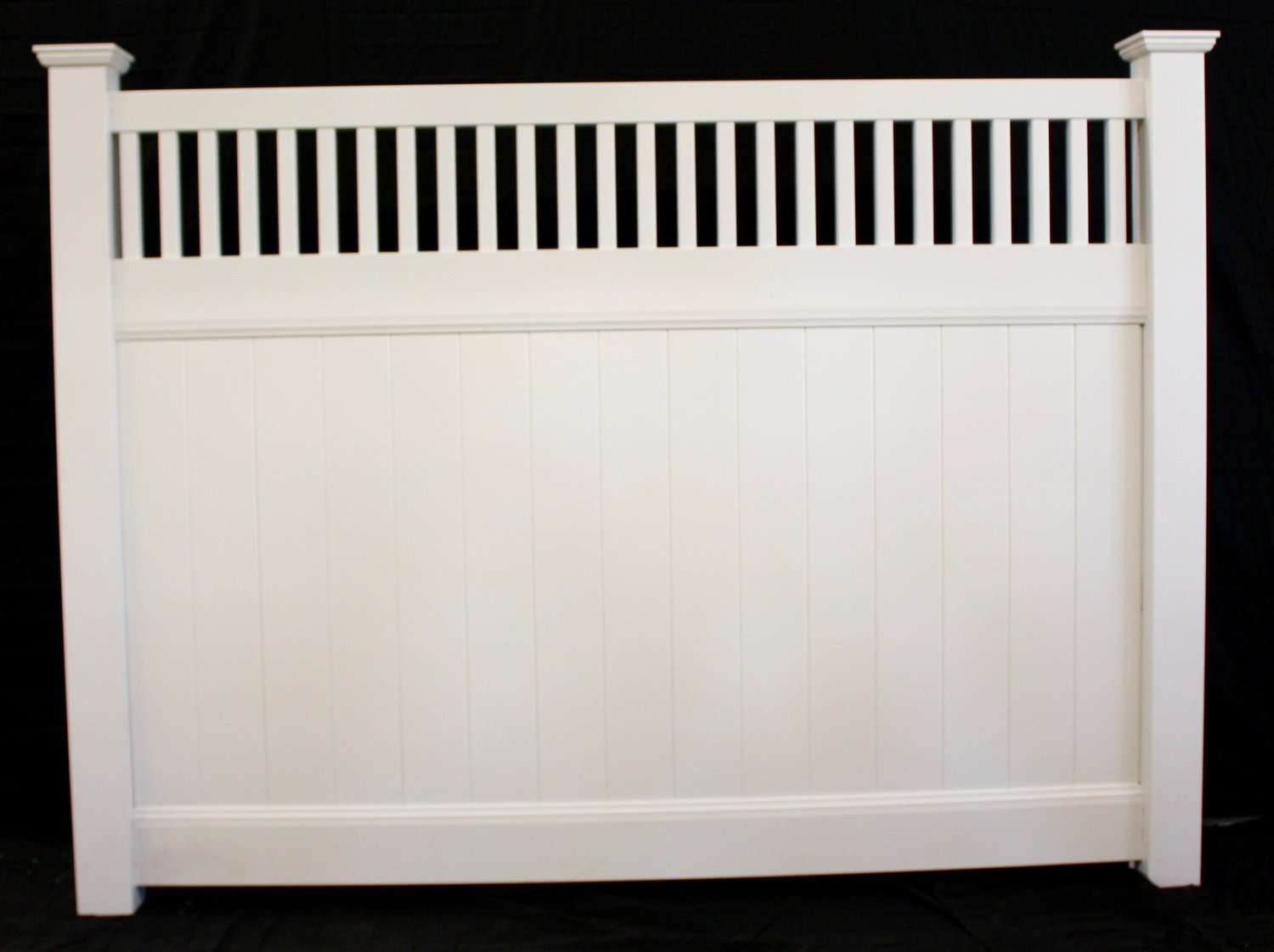 Buyvinylfence wholesale vinyl fence privacy closed spindle top fence panel baanklon Gallery