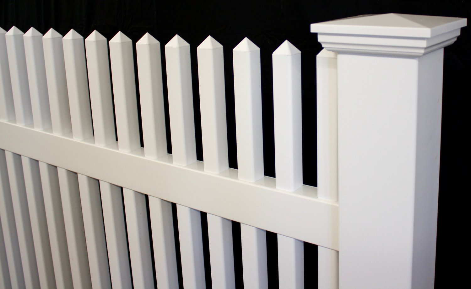 Victorian spaced picket vinyl fence straight top panel victorian spaced picket vinyl fence straight top panel baanklon Images