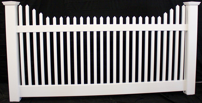Victorian stepped picket vinyl fence panel buyvinylfence victorian stepped picket vinyl fence panel baanklon Gallery