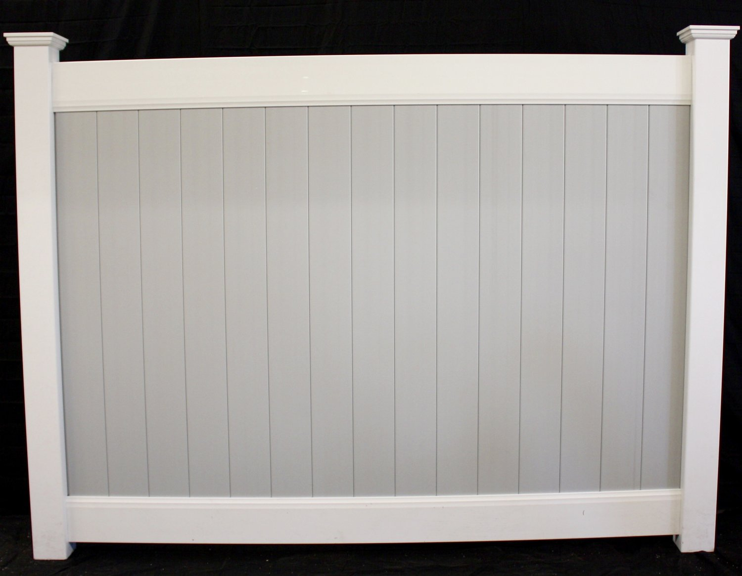 Buyvinylfence wholesale vinyl fence two tone solid privacy vinyl fence panel baanklon Gallery