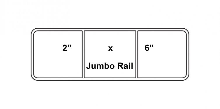 """2"""" x 6"""" Vinyl Horse Fence Jumbo Rail"""